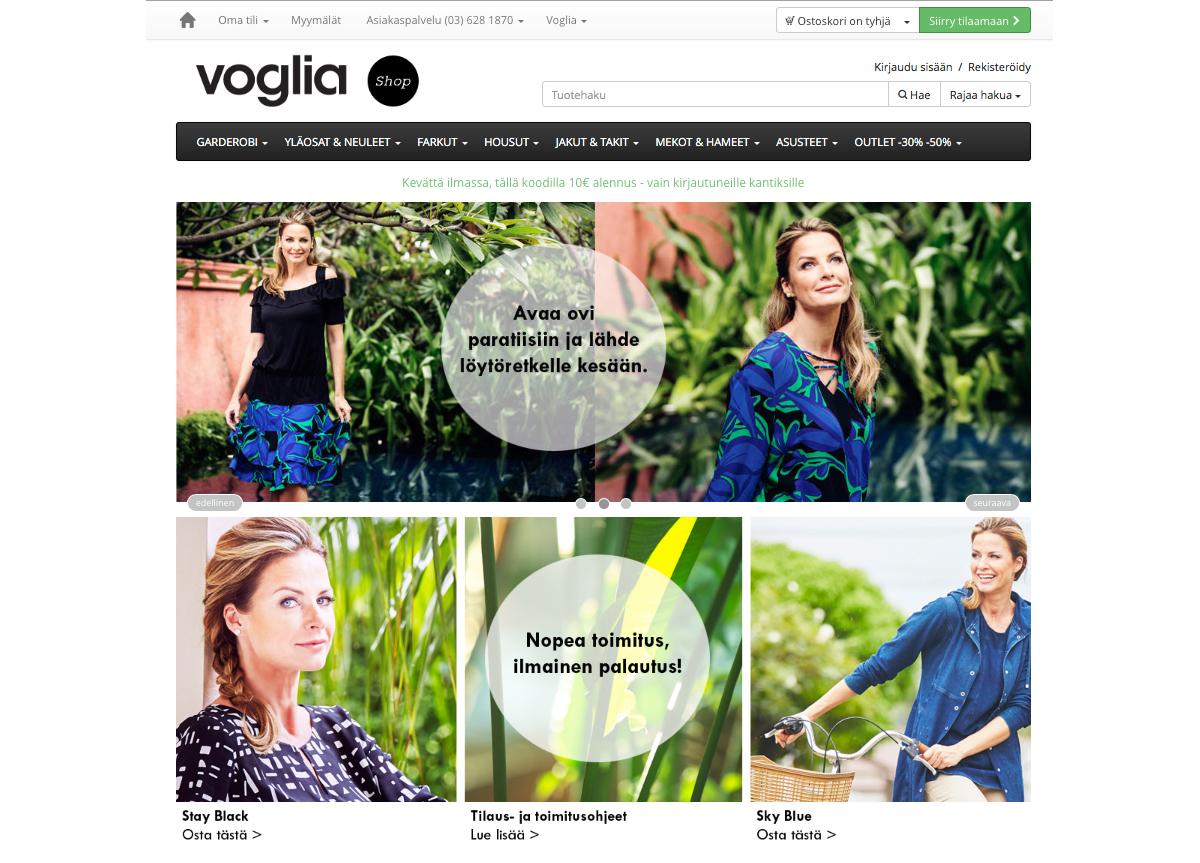 Teema Voglian verkkokaupassa